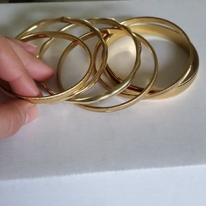 Monet Gold colored bangles
